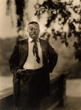 ARNOLD GENTHE (1869-1942) Portrait of Theodore Roosevelt.