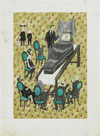 TELEVISION-EDWARD-GOREY-He-will-not-be-right-back-after-this