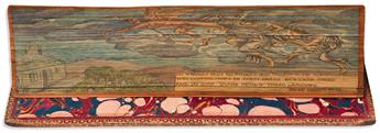(FORE-EDGE PAINTING.) Burns, Robert. The Complete Works containing the Poems, Songs and Correspondence ... with a new life of the Poet