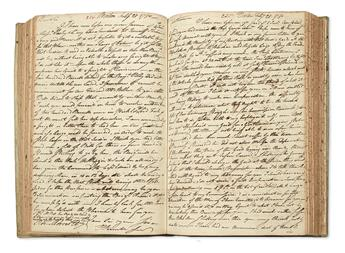 (AMERICAN REVOLUTION.) Russell, Thomas. Letter copy book of a Boston merchant during the war.
