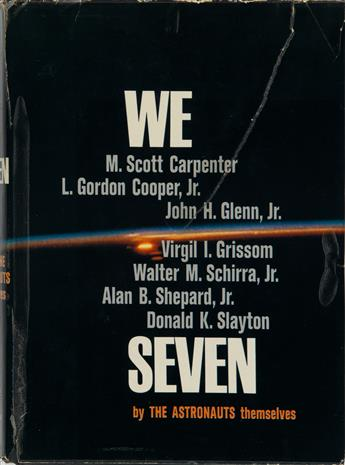 (ASTRONAUTS--PROJECT MERCURY.) We Seven. Signed by all 7 authors