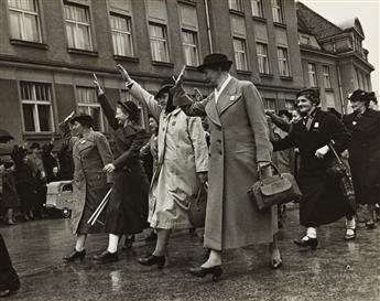 MARGARET BOURKE-WHITE (1904-1971) Group of three photographs from Czechoslovakia.