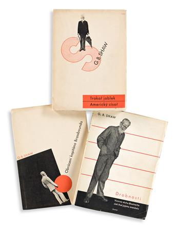 LADISLAV SUTNAR (1897-1976).  [COVER DESIGNS / GEORGE BERNARD SHAW.] Group of 3 softcover books. 1932-1933. Each 7½x5½ inches, 19x14 cm