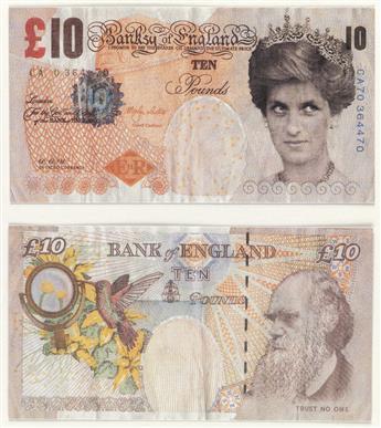 BANKSY 10 Pound Bank Note.