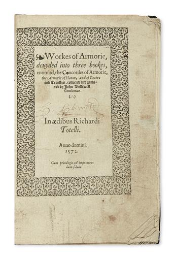 BOSSEWELL-JOHN-Workes-of-Armorie--1572--2-gatherings-and-one