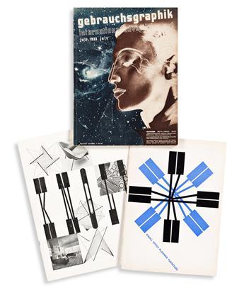HERBERT MATTER (1907-1984).  [KNOLL] & [GEBRAUCHSGRAPHIK.] Group of 3 publications. Sizes vary.