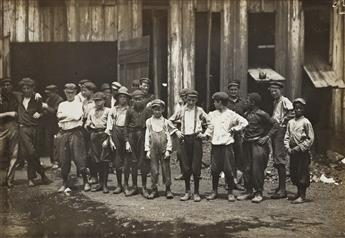 LEWIS W. HINE (1874-1940) A group of 9 images depicting young workers across America during the Second Industrial Revolution.