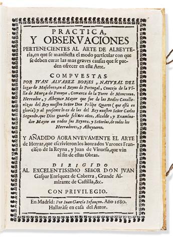 Borjes, Juan Álvarez (fl. circa 1680) Practica y O