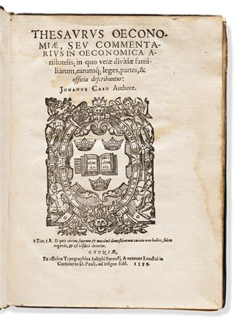 Case, John (d. 1600) Thesaurus Oeconomiae, seu Com