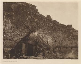 EDWARD-S-CURTIS-(1868-1952)-Group-of-4-large-format-photogra