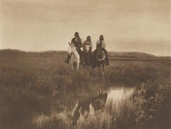 EDWARD S. CURTIS (1868-1952) Group of 4 large-format photogravures from The North American Indian, Portfolios III and IV.