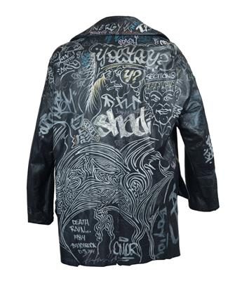 JEAN-MICHEL BASQUIAT AND KEITH HARING Graffiti Jacket.