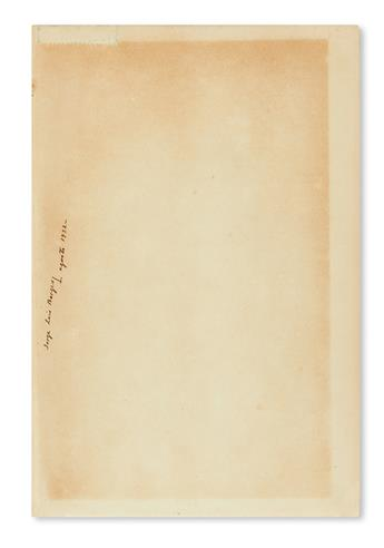 BORGES, JORGE LUIS. Two books, each dated and Signed on the front free endpaper: Herbert Asbury. Gangs of New York * William Boliltho.