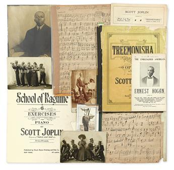 (RAGTIME.) JOPLIN, SCOTT, ET AL. Small but exceptional archive of Ragtime related material from the personal collection of music histor