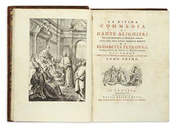 DANTE-ALIGHIERI--Opere--4-vols-in-5--1757-58--Lacks-last-2-l