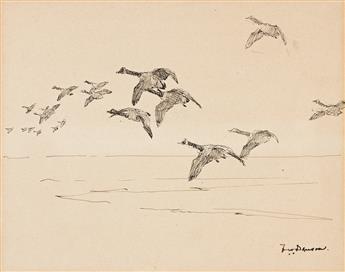 FRANK W. BENSON Geese in Flight.
