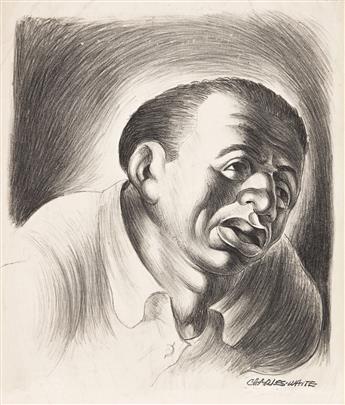 CHARLES WHITE (1918 - 1979) Head of Man - Version II (Diego Rivera).