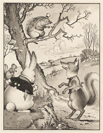 """HARRISON CADY (1877-1970) """"'Pooh!' exclaimed Reddy Fox. 'Who's afraid of that fellow?'"""" [CHILDRENS]"""