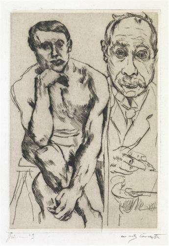 LOVIS-CORINTH-Two-drypoints