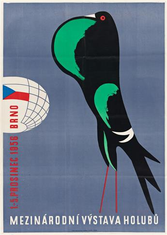 VARIOUS ARTISTS.  [CZECH GRAPHICS.] Group of 4 posters. Sizes vary.