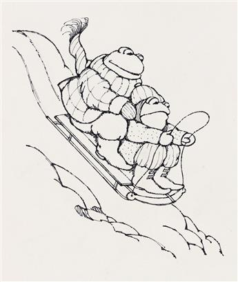 """ARNOLD LOBEL (1933-1987) """"The sled began to move down the hill."""" [CHILDRENS]"""