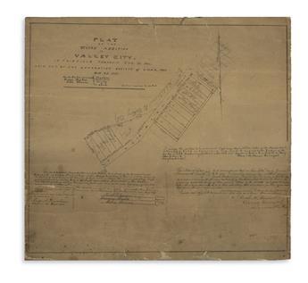 (MANUSCRIPT-MAP----OHIO)-Hoover-Oliver-H-surveyor-Two-ninete