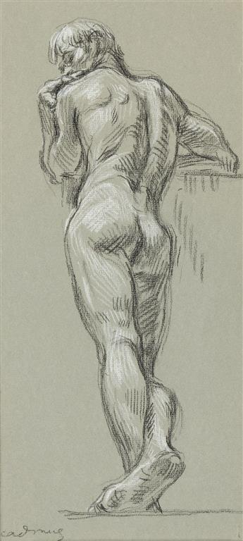 PAUL CADMUS Standing Male Nude (NM 48).
