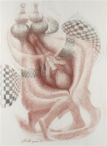 JOHN BIGGERS (1924 - 2001) Two Wings.
