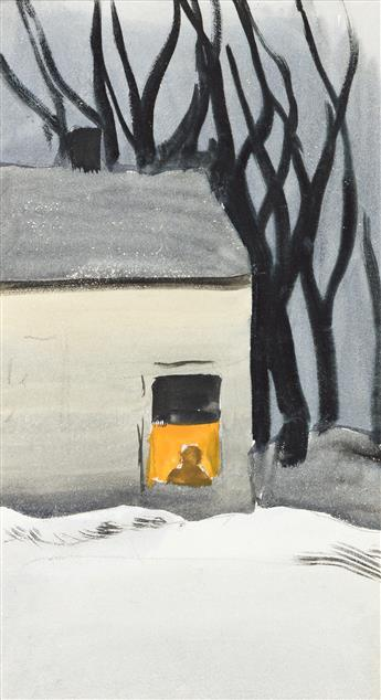 CHARLES BURCHFIELD Untitled (The House in the Woods).