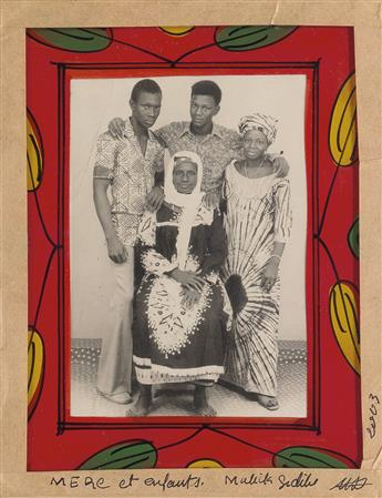 MALICK SIDIBÉ (1936-2016) Installation of 38 exuberant photographs highlighting graphic elements of West African culture, including tho