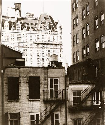 BEAUMONT NEWHALL (1908-1993) The Plaza Hotel, New York * New York, 52nd Street.