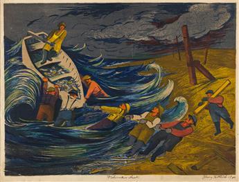 HARRY GOTTLIEB (1895-1922) Four color screenprints.