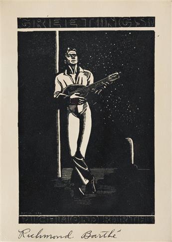 RICHMOND BARTHÉ (1909 - 1989) Untitled (Man Playin