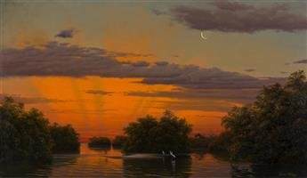 JOSEPH MCGURL Twilight in the Mangroves.