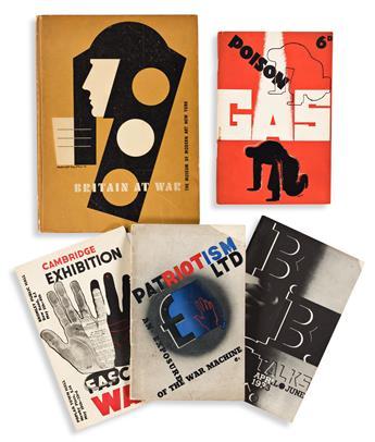 EDWARD MCKNIGHT KAUFFER (1890-1954).  [GRAPHIC DESIGN / WORLD WAR II.] Group of 6 items. 1930s-40s. Sizes vary.