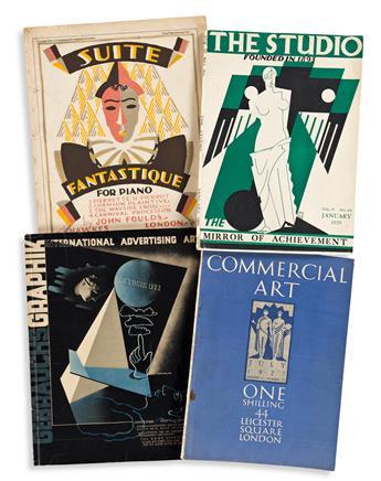 EDWARD MCKNIGHT KAUFFER (1890-1954).  [ART MAGAZINES & PIANO SCORES.] Group of 9 items. 1920s-30s. Sizes vary.