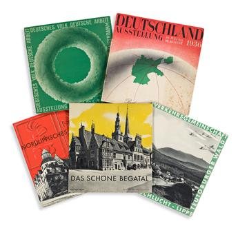 HERBERT BAYER (1900-1985).  [GERMAN TRAVEL GUIDES.] Group of 7 books & pamphlets. 1930s. Sizes vary.