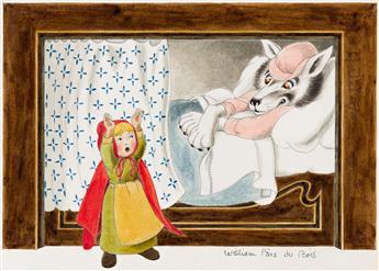 """WILLIAM PÈNE DU BOIS (1916-1993) """"Little Red Riding Hood."""" [CHILDRENS / FAIRY TALE]"""