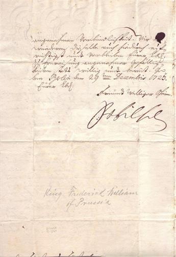 FRIEDRICH-WILHELM-I-Letter-Signed-FrWilhelm-to-an-unknown-re