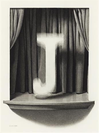 "CHRIS VAN ALLSBURG (1949- ) ""The J was rather Jittery."" [CHILDRENS / ALPHABET]"