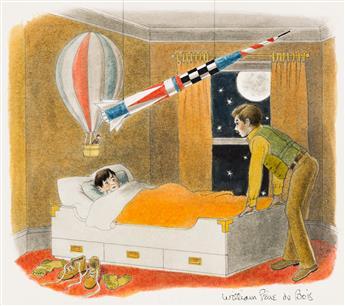 WILLIAM PÈNE DU BOIS (1916-1993) Bedtime * Arrival * Departure. [CHILDRENS]