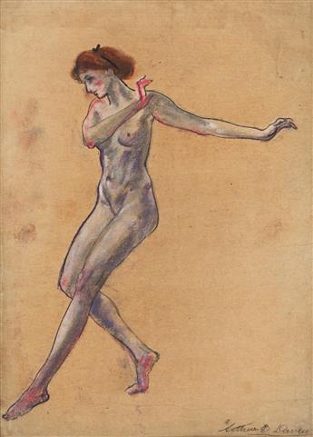 ARTHUR B. DAVIES Nude Model, Dancing.