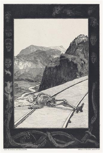 MAX KLINGER Vom Tode, I. Theil und II. Theil.