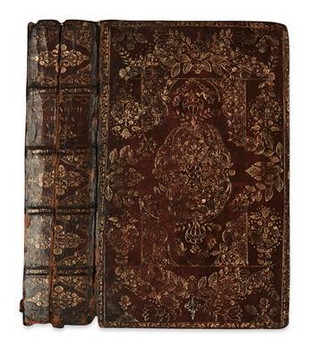 BINDING--Plutarch-Morals--Vol-1-(of-5)-only--1684--In-broken