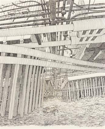 "DAVID MACAULAY (1946- ) ""Underground Artery.""  [ARCHITECTURE / DESIGN / ENGINEERING]"