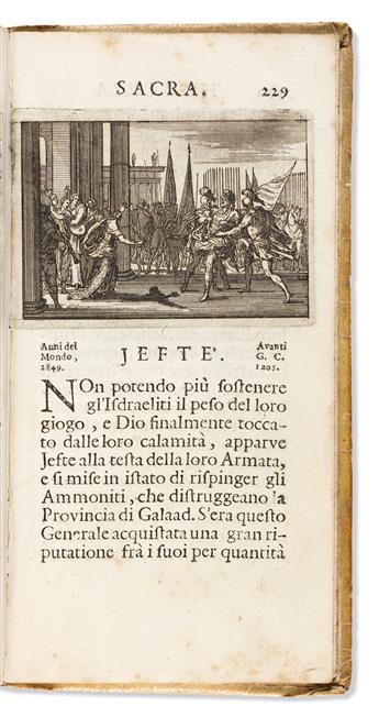 Bible, Illustrated, Italian. Historia del Testamento Vecchio e Nuovo, Rappresentata con Figure in Rame.