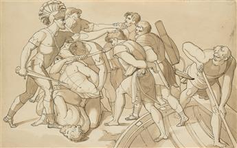 SAMUEL WOODFORDE (Castle Cary 1763-1817 Bologna) The Persians Assuage the Hellepont.
