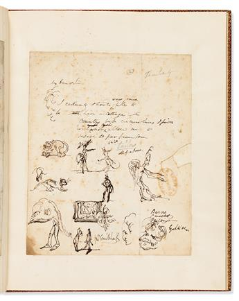 CRUIKSHANK, GEORGE. Original Drawings. My Lady In Search of a Servant, etc.