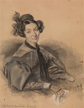 JULIEN-LÉOPOLD-BOILLY-(Paris-1796-1874-Paris)-Mme-Sophie-Pan
