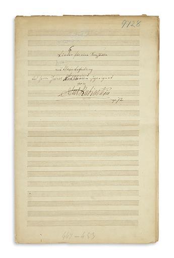 RUBINSTEIN-ANTON-Autograph-Musical-Manuscript-Signed-seven-t
